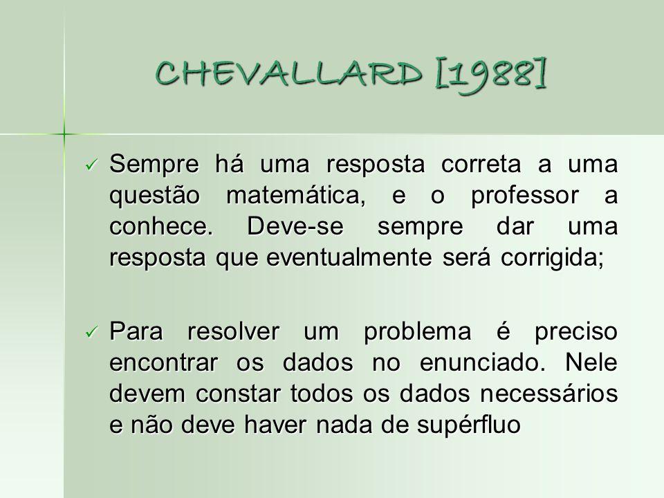 CHEVALLARD [1988]